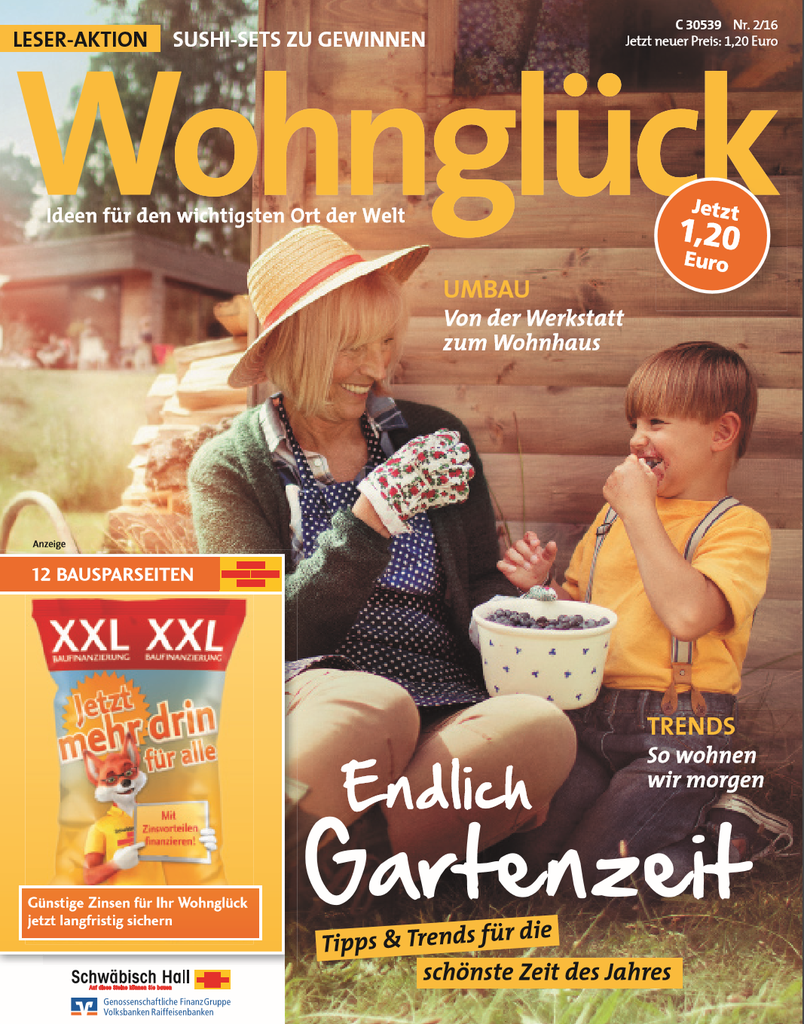 Duitsland wohngluck april 2016 cover