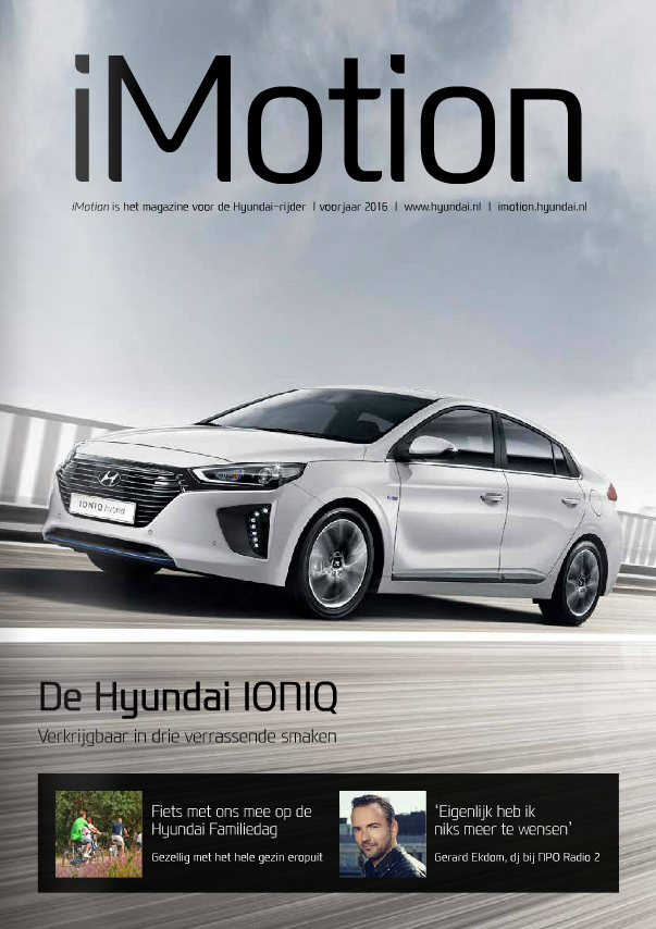 Nederland hyundai magazine imotion april 2016 cover