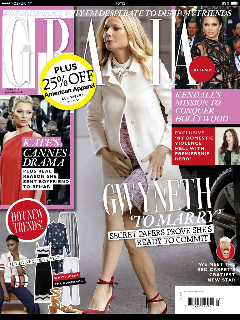 Uk grazia juni 2016 cover