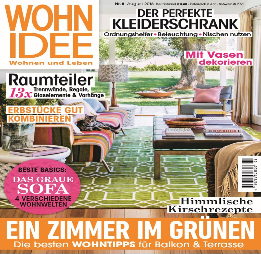 De wohnidee august 2016 cover